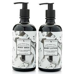 Beekman 1802 Vanilla Absolute Goat Milk Body Wash & Lotion Duo 12 oz Each