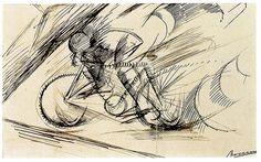 """""""Dynamism of a Cyclist"""" by Umberto Boccioni (1913)"""