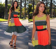 Color Blocking. Bcbg Dress, Bcbg Clutch, Marni Heels