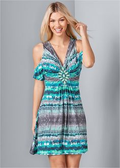 Casual Day Dresses, Comfy Dresses, Blue Dresses, Summer Dresses, Venus Clothing, Venus Swimwear, Formal Dress Shops, Modelos Fashion, Mix And Match Bikini