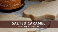 These Salted Caramel Sugar Cookies may just be my favorite one's yet! They are amazing! You can absolutely put my royal icing or buttercream on them, but I don't mind eating them plain. Cream Cheese Sugar Cookies, Cinnamon Sugar Cookies, Sugar Cookies Recipe, Cookie Flavors, Cookie Recipes, Cookie Ideas, Icing Recipes, Bakery Recipes, Cookie Designs
