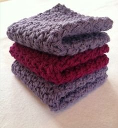 Cotton Crochet Dishcloths Crochet Washcloths by Shoppebylola, $10.00