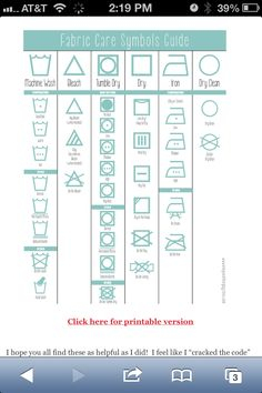 Laundry Symbols Made Simple! Laundry symbols Guide D. it's about time somebody deciphered laundry labels . thank you Jillee. from one good thing by jillee