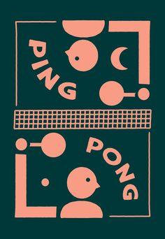 noahcollin ping pong illustration design