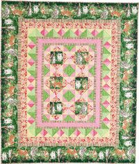 Kitty Corner Throw Quilt Kit from QuiltandSewShop.com