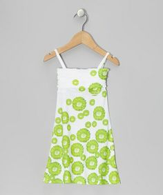 Look at this #zulilyfind! Lime Daisy A-Line Dress - Toddler & Girls #zulilyfinds
