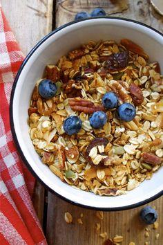 Pecan Coconut Granola (perfect açaí bowl topper) by In Pursuit of More  |  Sambazon