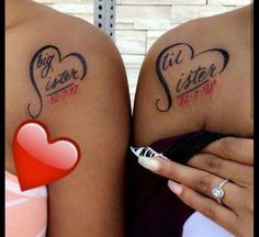 Me and cindi Sister Tattoos Unique Cute Sister Tattoos, Sister Tattoo Designs, Matching Sister Tattoos, Sibling Tattoos, Girly Tattoos, Pretty Tattoos, Little Tattoos, Tatoos, Tattoos On Foot