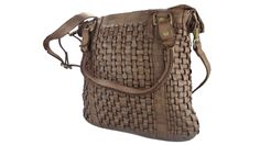 Bear Design Grizzly Damen Schultertasche Handtasche Geflochtenes Leder - Barneys Leather