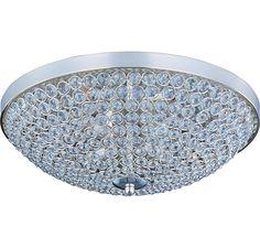 Maxim Lighting 39871BCPS Glimmer 4-Light Flush Mount in Plated Silver in Ceiling Lights, Flush Mounts: ProgressiveLighting.com