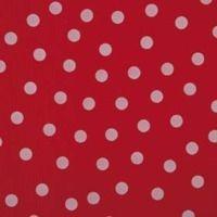 Kitsch Kitchen tafelzeil rood met witte stippen