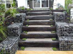 Low Cost Gabion Steps Cheaper Than Block Stone Gabion
