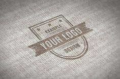 Cloth Logo Effect Online Mockup Template | ShareTemplates