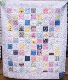 memory quilt made from your babies clothing.