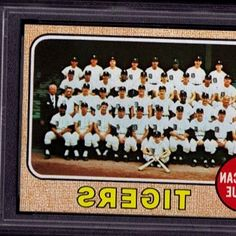 1968 TOPPS BASEBALL CARD  528 DETROIT TIGERS TEAM PSA 9 MT MINT. item 9 - 1968 Topps Detroit Tigers  528 Team Card BGS BCCG 7. 1968 TOPPS BASEBALL CARD  528 DETROIT TIGERS TEAM PSA 9 MT MINT in Sports Mem, Cards & Fan Shop, Sports Trading Cards, Baseball Cards. #BaseballCards #baseballcard #Baseball #Cards #Sports #Deals #Collectibles #gifts
