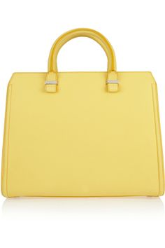 THE TREND EDIT SS2012 The Twin Set No. 6/25 VICTORIA BECKHAM  Yellow Leather tote