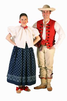 Traditional costumes of Silesian Gorals, Poland