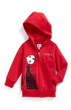 Armani Junior Hooded Sweatshirt (Toddler Girls, Little Girls & Big Girls) available at #Nordstrom