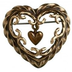 """Talon sydän""-rintakoru (""Heart of the House"" brooch), bronze - Kalevala Koru, Finland Heart Jewelry, Heart Ring, Fine Jewelry, Jewelry Making, Jewellery, Bronze Jewelry, Jewelry Companies, Jewelry Branding, Finland"