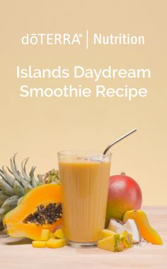 Imagine yourself in a tropical paradise. The sun is shining, there's a cool island breeze, and you're sipping this delicious Island Daydream Smoothie. With coconut milk, mango, papaya, pineapple, and Wild Orange oil, you can't go wrong! Wild Orange Essential Oil, Buy Essential Oils, Protein Shake Recipes, Smoothie Recipes, Healthy Drinks, Healthy Recipes, Healthy Food, Dessert Drinks, Desserts