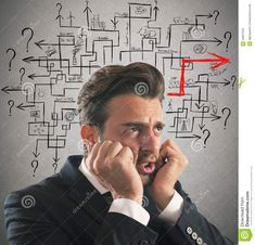 Photo about Worried man finds the difficult maze solution. Image of confused, research, complex - 59057533 Maze, Confused, Stock Photos, Design, Design Comics