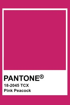 Pantone Pink Peacock ﮼آٰلوانَ in 2019 Pink peacock, Pantone pink color 2019 - Pink Things Paleta Pantone, Pantone Tcx, Pantone Swatches, Pantone 2020, Color Swatches, Pantone Colour Palettes, Pantone Color, Pink Paint Colors, Pink Color