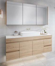 Timberline Bargo Wall Hung Vanity - with Silksurface Top & Basin - The Blue Space Bathroom Vanity Designs, Bathroom Basin, Bathroom Renos, Modern Bathroom Design, Bathroom Interior Design, Bathroom Renovations, Small Bathroom, Bathroom Ideas, Master Bathrooms