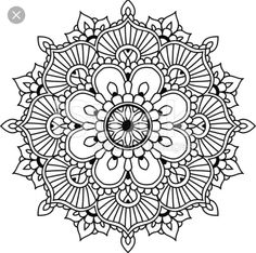Find Simple Floral Mandala Design Mehendi stock images in HD and millions of other royalty-free stock photos, illustrations and vectors in the Shutterstock collection. Mandala Design, Mandala Floral, Simple Mandala, Pattern Coloring Pages, Mandala Coloring Pages, Colouring Pages, Adult Coloring Pages, Mandala Doodle, Mandala Art