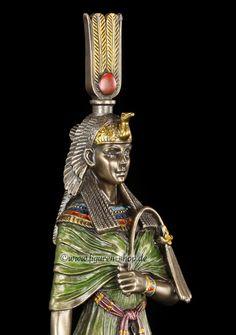 Kleopatra Figur mit Bastet und Ankh