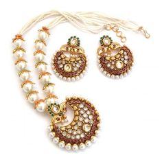 Chand bali pearl set