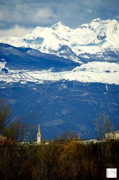 Pordenone, panoramica con Piancavallo