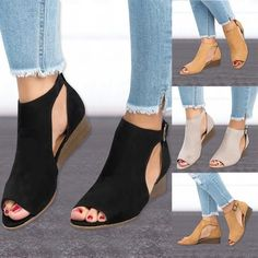 2018 woman wedge buckles fish mouth sandals gladiator women sandals mid heel sandals ladies summer peep toe women shoes Source by shoes Mid Heel Sandals, Shoes Heels Wedges, Women's Shoes Sandals, Wedge Shoes, Shoe Boots, Gladiator Sandals, Strappy Shoes, Shoes Flats Winter, Sandals Outfit