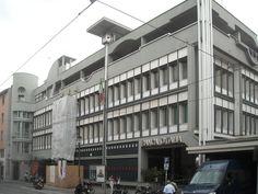 +1968-74 Giuseppe e Alberto Samonà, nuova sede della Banca d'Italia, Padova, .