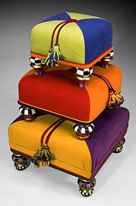 'tuffet totem' . . ottomans by margaret romero . . . @Afshan Shahid