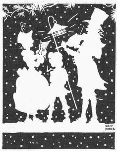 Christmas carolers silhouette by katinthecupboard, via Flickr