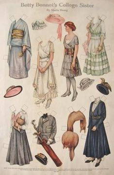 Collegiate fashion in 1916--a far cry from what you see on www.collegefashion.net today!