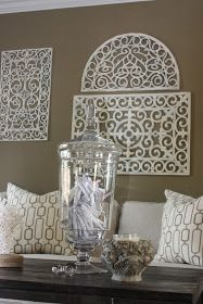 Tutorial - how to create vintage iron scroll wall art from dollar store rubber mats. & Turn a $1 store rubber door mat into wall art.... this is BEYOND ...