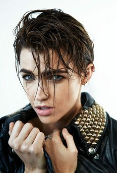 """liquorinthefront: "" Ruby Rose "" All I know about Ruby Rose is that sometimes she looks like Lesbian Elvis Presley"""