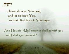 Exodus 33:13-14