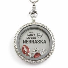 Perfect Locket for #Nebraska #Football Fans! Not Sold in Stores!! - Material: Stainless Steel Locket and Chain - Locket Size: 30 mm - Chain Size 30 inch - **All Charms In Picture Included** #christmas #gifts