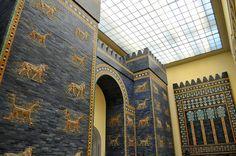 Ishtar Gate of Babylon in Pergamon Museum Berlin Gate Of Babylon, Pergamon Museum, Reunification, Brandenburg Gate, George Washington Bridge, Travel Europe, Brooklyn Bridge, Berlin, Places To Visit