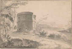 An Italianate Landscape with Ruined Tower by Jan Asselijn