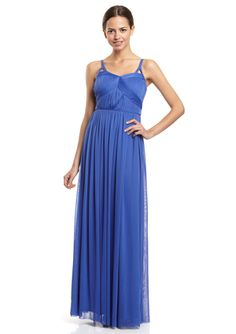 JESSICA SIMPSON Pleated Grecian Gown
