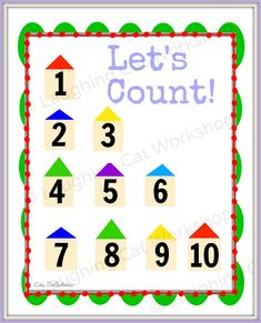 Teach them to count early! Baby Nursery Art, Teaching Numbers, Nursery School, School Posters, Baby Belly, Toddler Learning, Letter Wall, Letters And Numbers, Nurseries