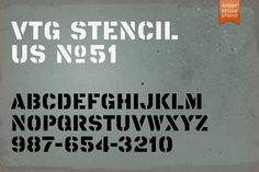 Vtg Stencil US No. 51 by astype on @Graphicsauthor