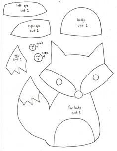 PDF pattern for felt fox