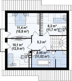 Проект дома Z102 - план-схема 2