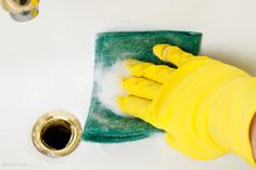 Takarítási tippek. Cleaning Bathroom Tiles, Graphic Prints, Hold On, Sink, Hand Holding, Design Templates, Glove, Yellow, Business