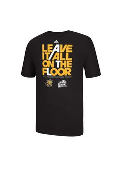 Wichita State University (WSU) Shockers Final Four Men's Black Adidas All on the Floor Shirt http://www.rallyhouse.com/college/wichita-state-shockers/a/mens/b/clothing/c/t-shirts?utm_source=pinterest&utm_medium=social&utm_campaign=Pinterest-WSUShockers $22.00