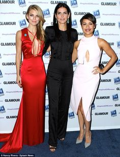 Good works: AnnaLynne joined fellow honorees Angie Harmon and Empire star Grace Gealey